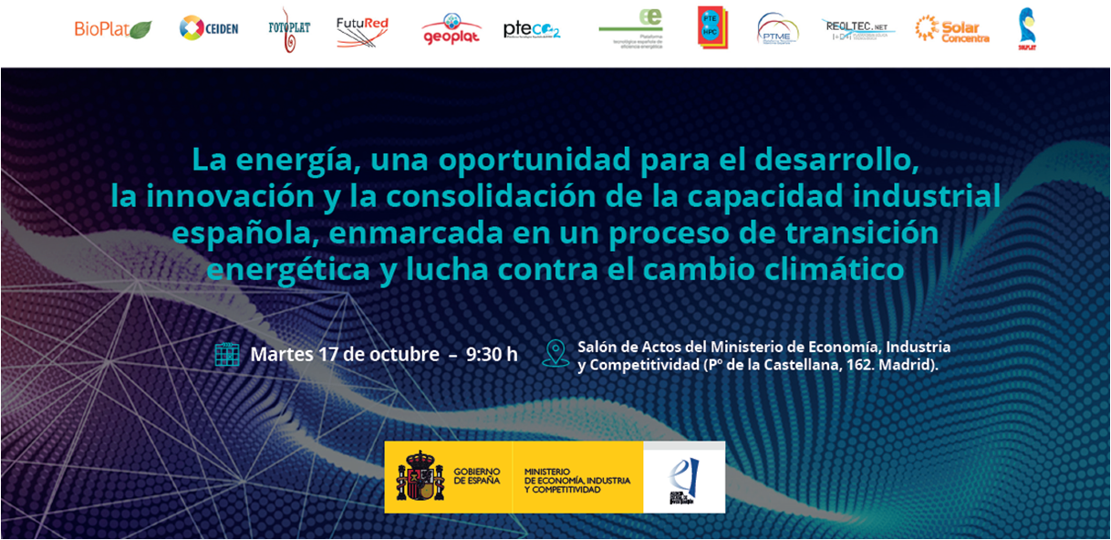 Energy Platforms Workshop: Energy as an opportunity for the development and reinforcement of the Spanish industrial capability in a context of energy transition and mitigation of climate change