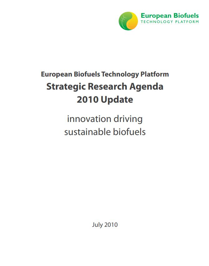 EBTP Platform Strategic Research Agenda (Update 2010)