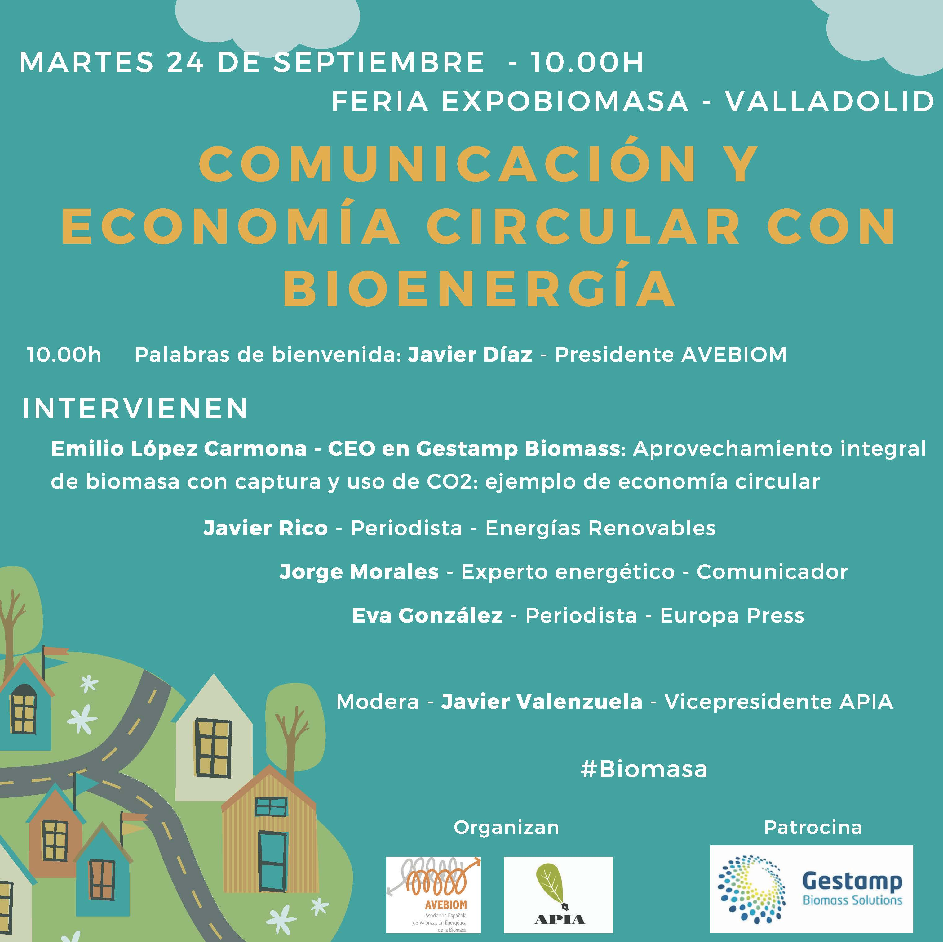 (Español) Comunicación y Economía Circular con Bioenergía (Feria Expobiomasa –  Valladolid – 24 septiembre, 10h)
