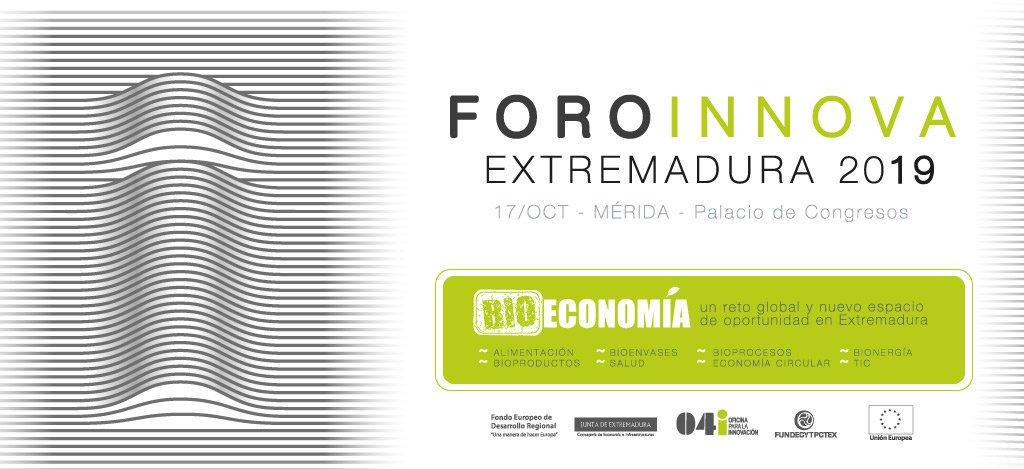 BIOPLAT participa en el Foro Innova Extremadura 2019 (Mérida, 17 octubre 2019)
