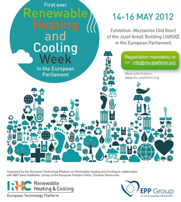 Primera Semana de Climatización Renovable en el Parlamento Europeo