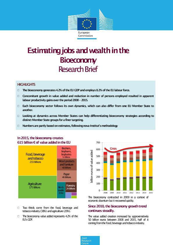 Overview of the bioeconomy in the European Union and its economic value in two EC reports