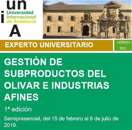 (Español) BIOPLAT participa en el curso 'Gestión de subproductos del olivar e industrias afines' organizado por la UNIA