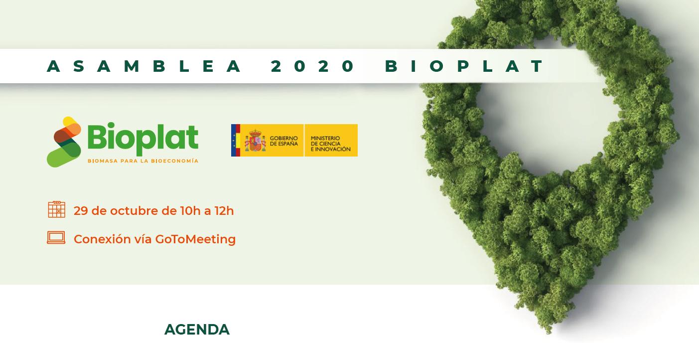 AGENDA DISPONIBLE: Asamblea BIOPLAT 2020 (29 octubre 10h)