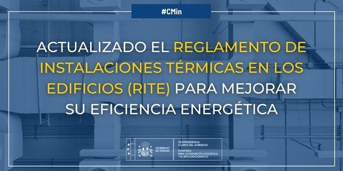 (Español) La actualización del RITE contribuirá al objetivo de mejora de la eficiencia energética del PNIEC